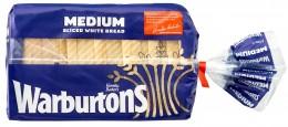 Warburtons Toustový chléb střední (mražený)
