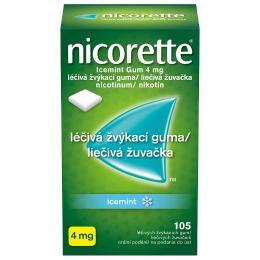 NICORETTE ICEMINT GUM 4MG léčivé žvýkací gumy 105
