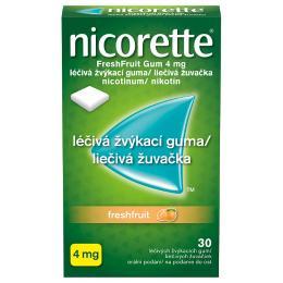 NICORETTE FRESHFRUIT GUM 4MG léčivé žvýkací gumy 30