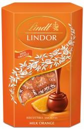 Lindt Lindor pralinky z mléčné čokolády s pomerančovou příchutí