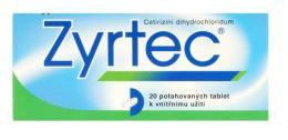 ZYRTEC 10MG potahované tablety 20