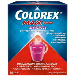COLDREX MAXGRIP LESNÍ OVOCE 1000MG/10MG/70MG POR PLV SOL SCC 10 II