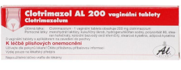 CLOTRIMAZOL AL 200 200MG VAG TBL 3