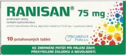 RANISAN 75MG potahované tablety 10