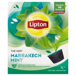 Lipton Zelený aromatizovaný čaj Marakéšská máta 12 kapslí