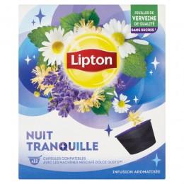 Lipton Bylinný aromatizovaný čaj Sweet nights 12 kapslí