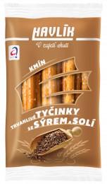 Havlík Trvanlivé tyčinky se sýrem a solí - Kmín