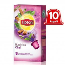 Lipton Černý aromatizovaný čaj Chai 10 kapslí