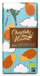 Chocolates From Heaven BIO mléčná čokoláda s karamelizovanými mandlemi a mořskou solí 39%