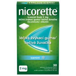 NICORETTE ICEMINT GUM 2MG léčivé žvýkací gumy 30
