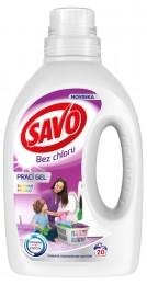 Savo Bez chlóru Color prací gel na barevné prádlo (1l)