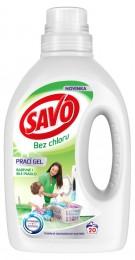 Savo Bez chlóru Universal prací gel na bílé a barevné prádlo (1l)