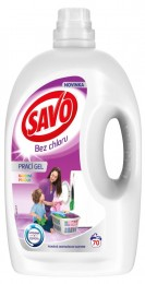 Savo Bez chlóru Color prací gel na barevné prádlo (3,5l)