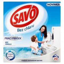 Savo Bez chlóru White prášek na bílé prádlo (1,4kg)