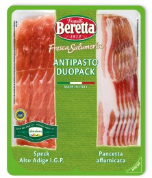 Fratelli Beretta Antipasto duo - Speck Alto Adige  I.G.P.& Smoked Pancetta