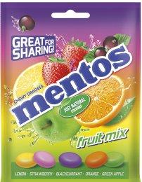 MENTOS bag Fruit - žvýkací bonbóny s ovocnou příchutí