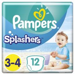 Pampers Splashers Plenkové kalhotky do vody (velikost 3-4) 12 ks