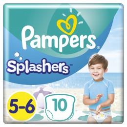 Pampers Splashers Plenkové kalhotky do vody (velikost 5-6) 10 ks