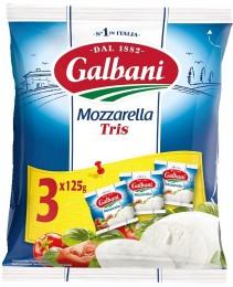 Galbani Mozzarella TRIS, 3x125g,