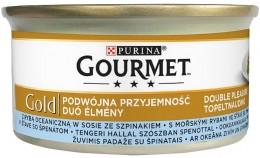 Gourmet Gold s mořskými rybami ve šťávě se špenátem
