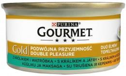Gourmet Gold Double Pleasure s králíkem a játry