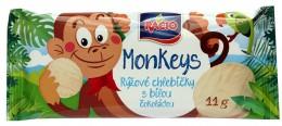 RACIO Monkeys rýžové chlebíčky s bílou čokoládou