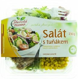 Jihočeská zelenina Salát s tuňákem, kukuřicí a hořčicovým dresinkem