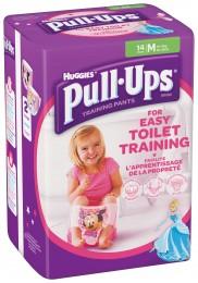 Huggies Pull Ups M trénikové plenky pro děvčata 11-18kg (14ks)