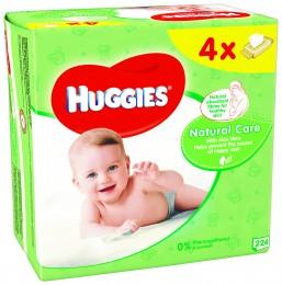 Huggies Natural Quatro dětské vlhčené ubrousky (4x56ks)