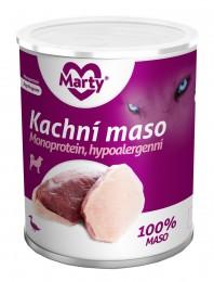 Marty konzerva pro psy 100% maso - Monoprotein kachní