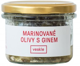 Veskle Marinované olivy s ginem a fetou