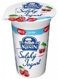 Mlékárna Kunín Selský jogurt třešeň