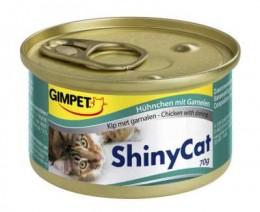 Gimpet ShinyCat konzerva pro kočky kuře+kreveta