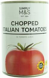 Marks & Spencer Krájená italská rajčata v rajčatové šťávě