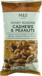 Marks & Spencer Kešu a arašídy v medovo-cukrové krustě