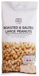 Marks & Spencer Loupané pražené a solené velké arašídy