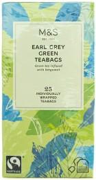 Marks & Spencer Porcovaný aromatizovaný zelený čaj Earl Grey