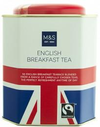 Marks & Spencer Porcovaný anglický snídaňový čaj, směs černých čajů