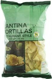 Marks & Spencer Bezlepkové jemně solené kukuřičné tortillové lupínky