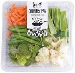 Titbit Ready to Cook Country Pan (květák, brokolice, lusky, pór, mrkev, bylinky)