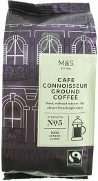 Marks & Spencer Silná pražená mletá černá káva Café Connoisseur (100% Arabica)