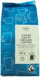 Marks & Spencer Pražená kolumbijská mletá káva bez kofeinu (100% Arabica)