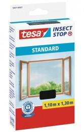 Tesa Síť proti hmyzu do oken, antracitová, 1,1 m x 1,3 m