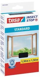 Tesa Síť proti hmyzu do oken, antracitová, 1,3 m x 1,5 m