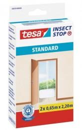 Tesa Síť proti hmyzu do dveří, bílá, 2 x 0,65 m x 2,2 m