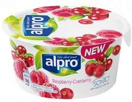 Alpro Fresh sojová alternativa jogurtu malina-brusinka