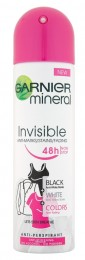 Garnier Mineral Invisible Black White Colors Spray minerální deodorant