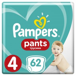 Pampers Pants Active Baby (velikost 4) 62 ks