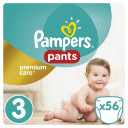 Pampers Pants Premium Care Vel. 3, 56 Plenek, 6-11 kg