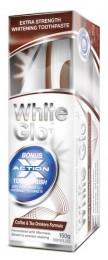 White Glo Coffee and Tea drinkers formula - bělící zubní pasta + zubní a mezizubní kartáček